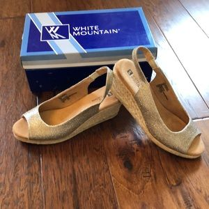 White Mountain Espadrille Wedges
